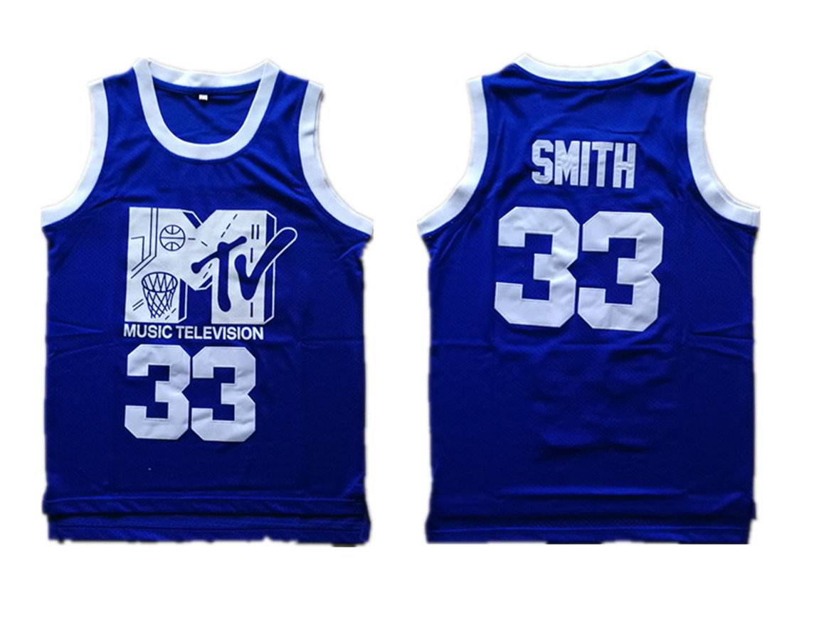 Music Television MTV 33 Will Smith Blue Stitched Movie Jersey