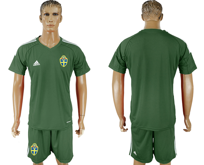 Sweden Military Green Goalkeeper 2018 FIFA World Cup Soccer Jersey Any Name and Number Can Do