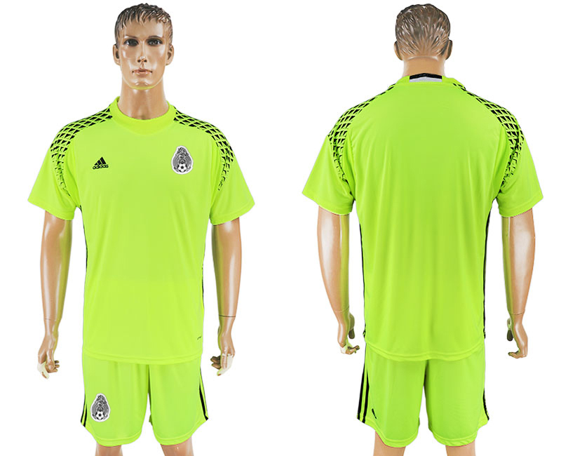 Mexico Fluorescent Green Goalkeeper 2018 FIFA World Cup Soccer Jersey Any Name and Number Can Do