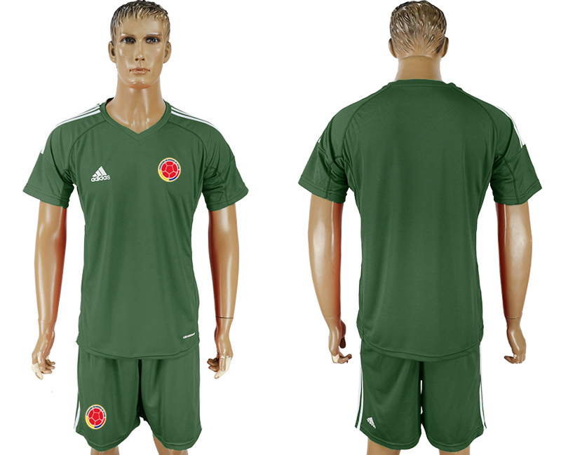 Colombia Army Green Goalkeeper 2018 FIFA World Cup Soccer Jersey Any Number and Number Can Do