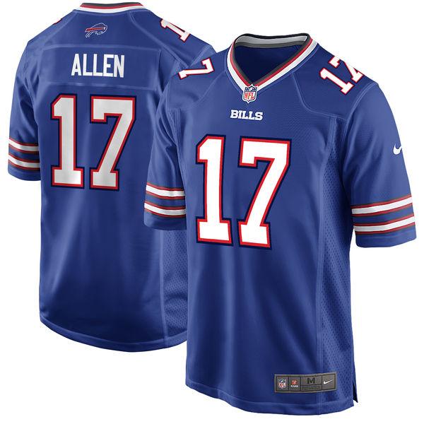 Nike Bills 17 Josh Allen Royal Youth 2018 Draft Pick Game Jersey