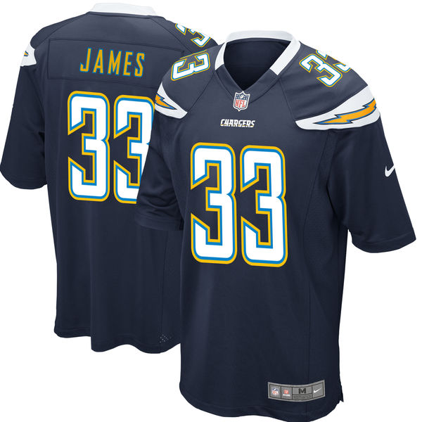 Nike Los Angeles Chargers #33 Derwin James 2018 NFL Draft Pick Navy Blue Elite Jersey