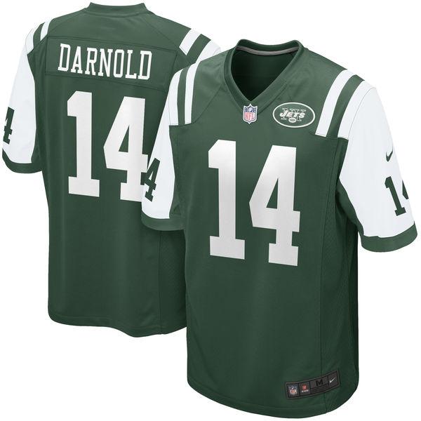 Nike New York Jets #14 Sam Darnold 2018 NFL Draft Pick Green Elite Jersey
