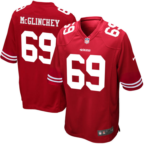 Nike San Francisco 49ers #69 Mike McGlinchey 2018 NFL Draft Pick Red Elite Jersey