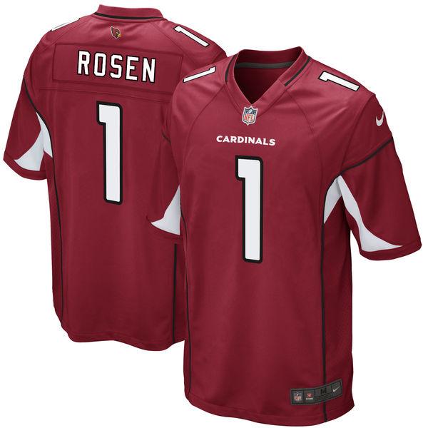 Nike Arizona Cardinals #1 Josh Rosen 2018 NFL Draft Pick Red Elite Jersey