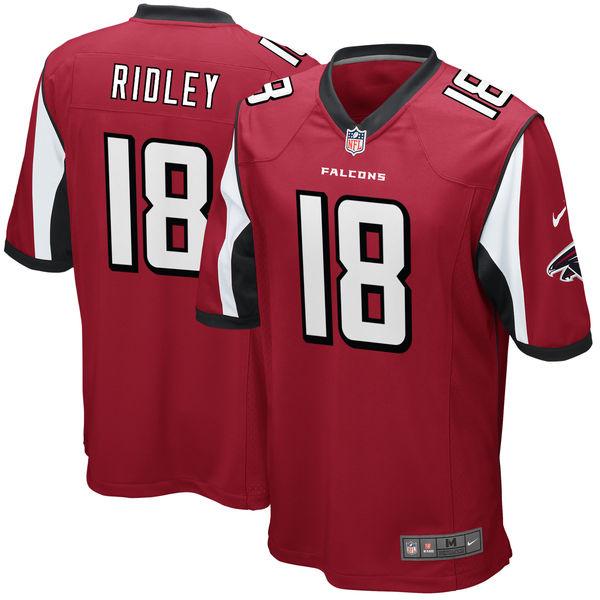 Nike Atlanta Falcons #18 Calvin Ridley 2018 NFL Draft Pick Red Elite Jersey