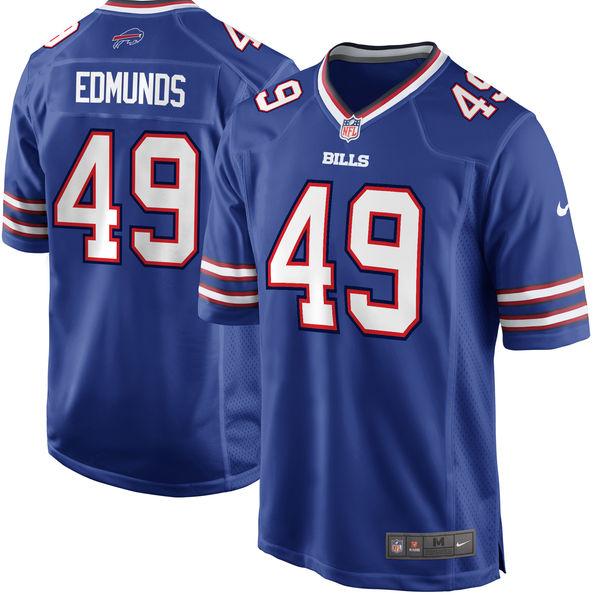 Nike Buffalo Bills #49 Tremaine Edmunds 2018 NFL Draft Pick Royal Blue Elite Jersey