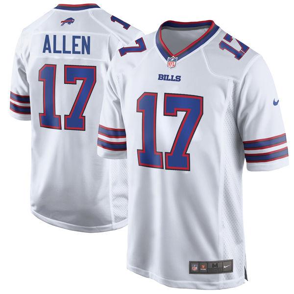 Nike Buffalo Bills #17 Josh Allen 2018 NFL Draft Pick White Elite Jersey
