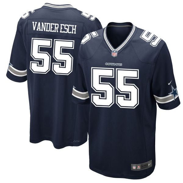 Nike Dallas Cowboys #55 Leighton Vander Esch 2018 NFL Draft Pick Navy Blue Elite Jersey