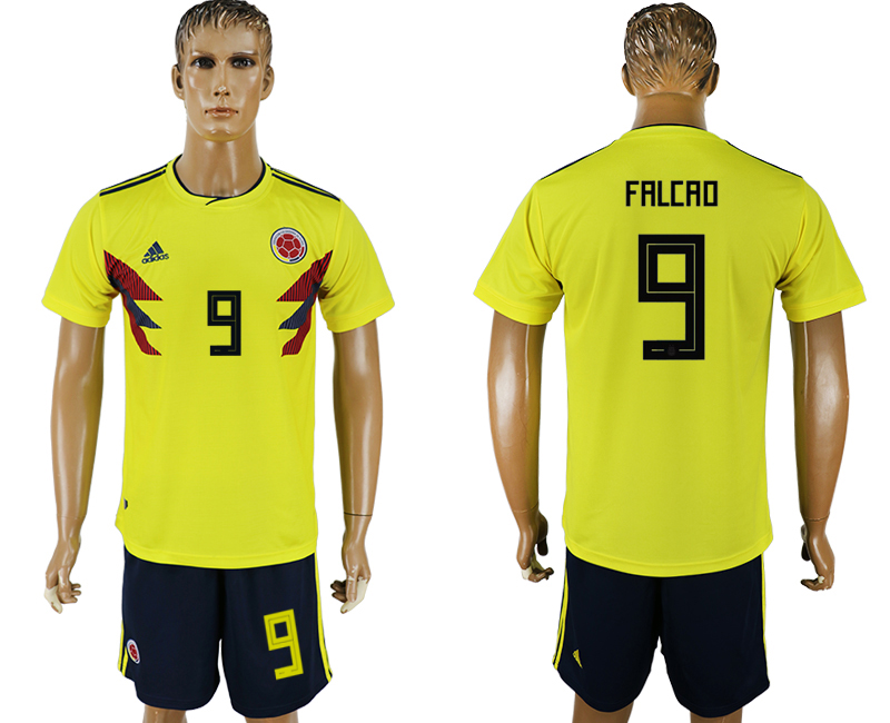 Colombia #9 FALCAO Home 2018 FIFA World Cup Soccer Jersey