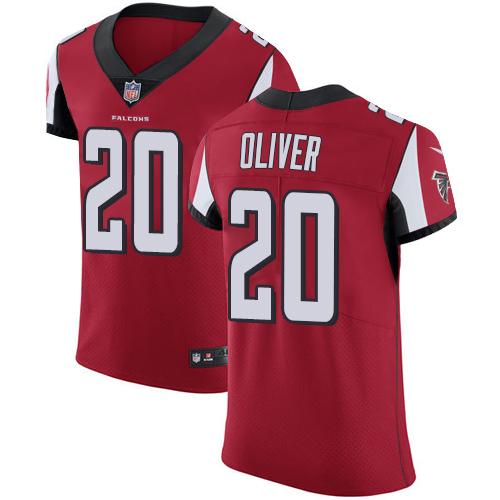 Nike Atlanta Falcons #20 Isaiah Oliver Men's Stitched NFL Vapor Untouchable Elite Red Team Color Jersey