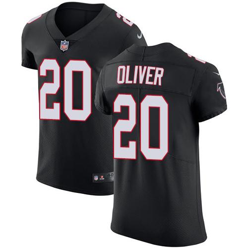 Nike Atlanta Falcons #20 Isaiah Oliver Alternate Men's Stitched NFL Vapor Untouchable Elite Black Jersey