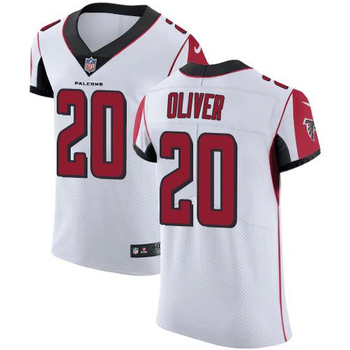 Nike Atlanta Falcons #20 Isaiah Oliver Men's Stitched NFL Vapor Untouchable Elite White Jersey