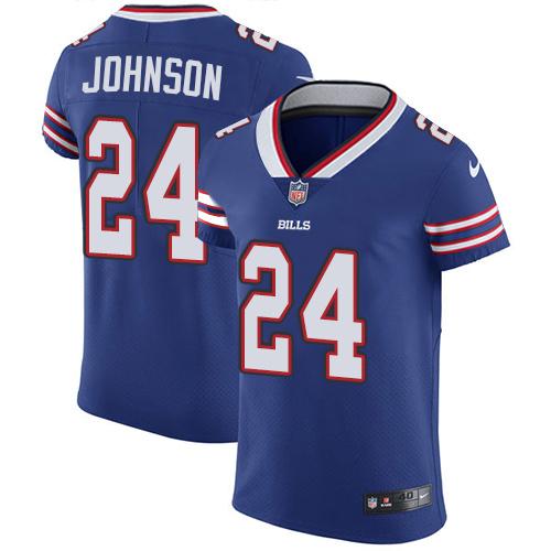 Nike Buffalo Bills #24 Royal Blue Taron Johnson Team Color Men's Stitched NFL Vapor Untouchable Elite Jersey