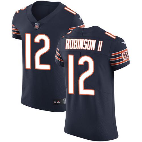 Nike Chicago Bears #12 Allen Robinson II Team Color Men's Stitched NFL Vapor Untouchable Elite Navy Blue Jersey