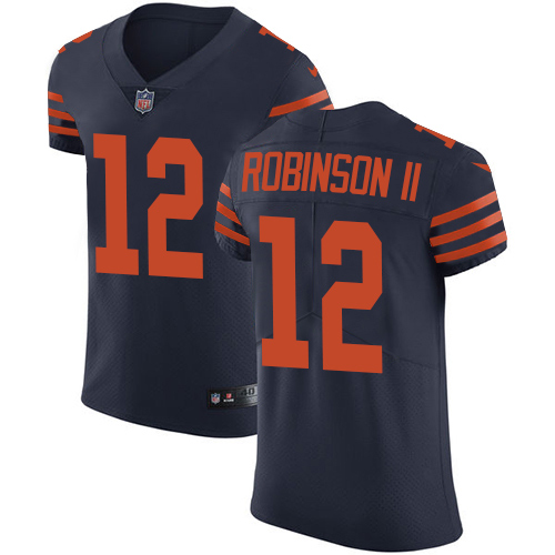 Nike Chicago Bears Men's Stitched NFL Vapor Untouchable Elite #12 Allen Robinson II Navy Blue Alternate Jersey