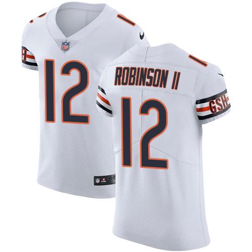 Nike Chicago Bears Men's Stitched NFL Vapor Untouchable Elite #12 Allen Robinson II White Jersey