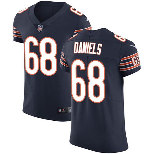 Nike Chicago Bears Men's Stitched NFL Vapor Untouchable Elite #68 James Daniels Navy Blue Team Color Jersey