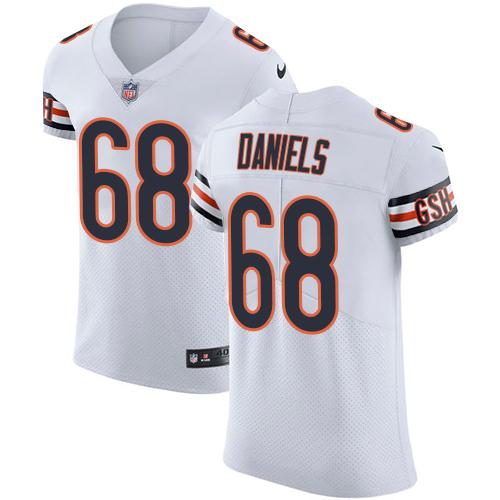 Nike Chicago Bears Men's Stitched NFL Vapor Untouchable Elite #68 James Daniels White Jersey