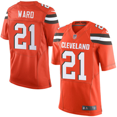 Nike Cleveland Browns #21 Denzel Ward Alternate Men's Stitched NFL Elite Orange Jersey