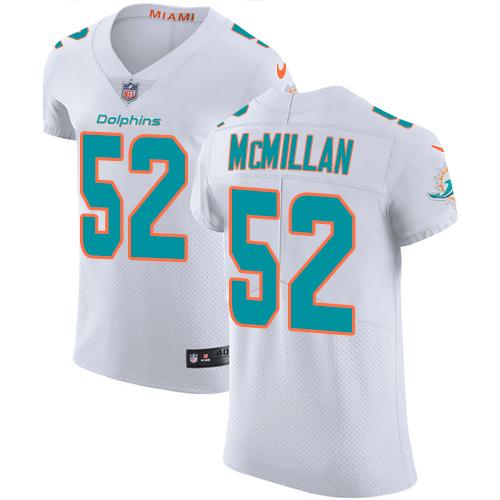 Nike Miami Dolphins #52 Raekwon McMillan Men's Stitched NFL Vapor Untouchable Elite White Jersey