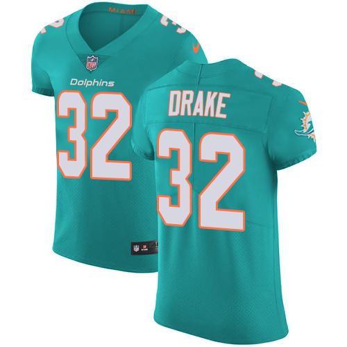 Nike Miami Dolphins #32 Kenyan Drake Aqua Men's Stitched NFL Vapor Untouchable Elite Green Team Color Jersey