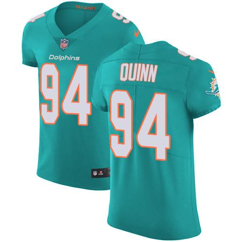 Nike Miami Dolphins #94 Robert Quinn Aqua Men's Stitched NFL Vapor Untouchable Elite Green Team Color Jersey