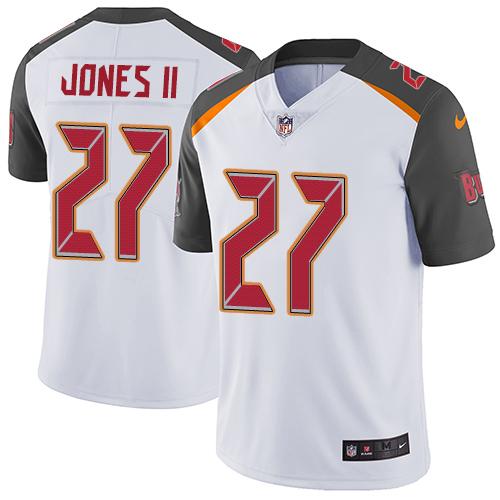 Nike Tampa Bay Buccaneers Men's Stitched NFL Vapor Untouchable Limited #27 Ronald Jones II White Jersey