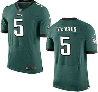 Men's Philadelphia Eagles #5 Donovan McNabb Midnight Green Retired Player NFL Nike Elite Jersey