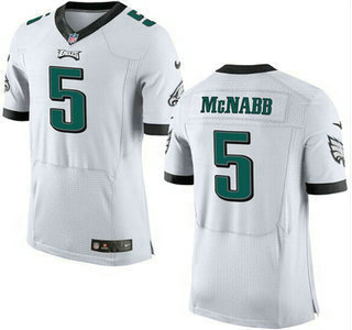 Men's Philadelphia Eagles #5 Donovan McNabb White Retired Player NFL Nike Elite Jersey