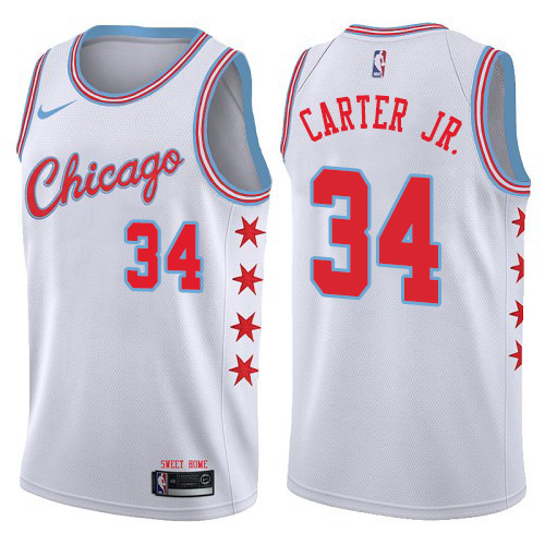 Men's Chicago Bulls #34 Wendell Carter Jr. White Nike NBA Swingman Association Edition Jersey