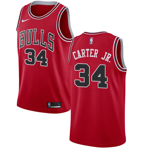 Men's Chicago Bulls #34 Wendell Carter Jr. Red Nike NBA Swingman Association Edition Jersey