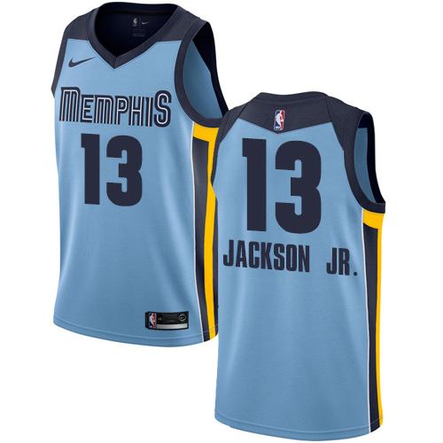 Men's Memphis Grizzlies #13 Jaren Jackson Jr. Light Blue Nike NBA Swingman Statement Edition Jersey