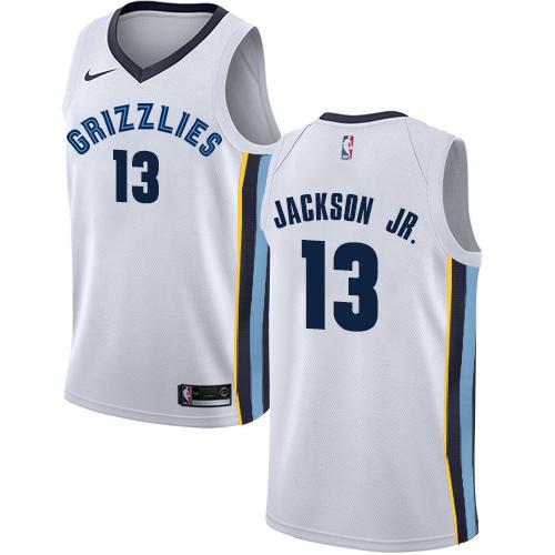 Men's Memphis Grizzlies #13 Jaren Jackson Jr. White Nike NBA Swingman Statement Edition Jersey