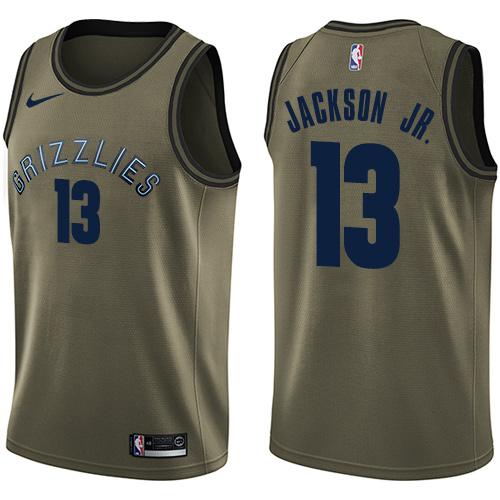 Men's Memphis Grizzlies #13 Jaren Jackson Jr. Green Nike NBA Swingman Salute to Service Jersey