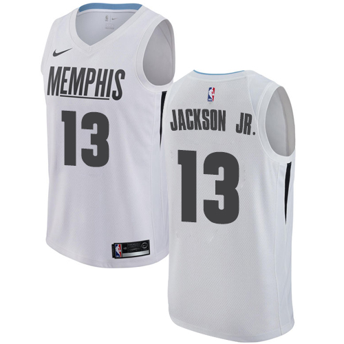 Men's Memphis Grizzlies #13 Jaren Jackson Jr. White Nike NBA Swingman City Edition Jersey