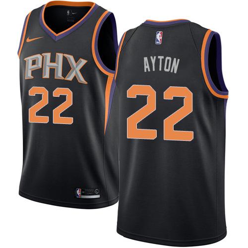 Men's Phoenix Suns #22 Deandre Ayton Black Nike NBA Swingman Association Edition Jersey