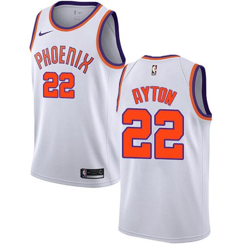 Men's Phoenix Suns #22 Deandre Ayton White Nike NBA Swingman Association Edition Jersey.