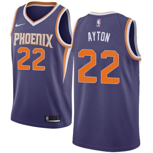 Men's Phoenix Suns #22 Deandre Ayton Purple Nike NBA Swingman Icon Edition Jersey