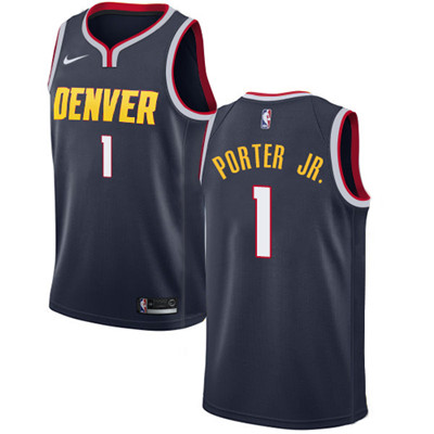 Denver Nuggets #1 Michael Porter Jr. Navy Nike NBA Swingman Icon Edition Jersey