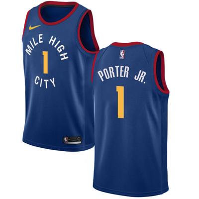 Denver Nuggets #1 Michael Porter Jr. Navy Nike NBA Swingman City Edition Jersey