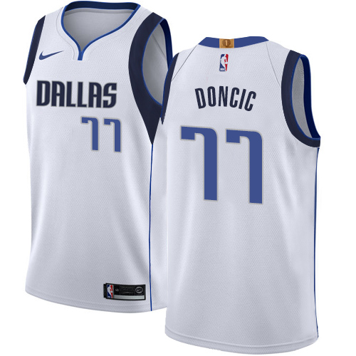Nike Dallas Mavericks #77 Luka Doncic White NBA Swingman Association Edition Jersey