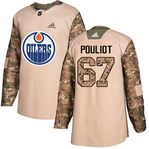 Adidas Edmonton Oilers #67 Benoit Pouliot Authentic 2017 Veterans Day Stitched NHL Camo Jersey