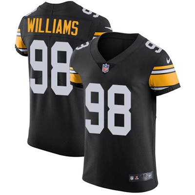 Men's Steelers #98 Vince Williams Black Alternate Stitched Nike NFL Vapor Untouchable Elite Jersey
