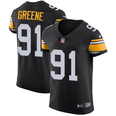 Men's Steelers #91 Kevin Greene Black Alternate Stitched Nike NFL Vapor Untouchable Elite Jersey