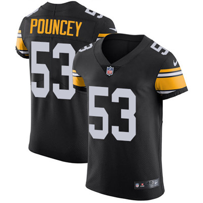 Men's Steelers #53 Maurkice Pouncey Black Alternate Stitched Nike NFL Vapor Untouchable Elite Jersey