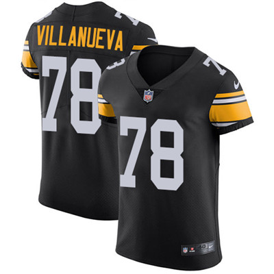 Men's Steelers #78 Alejandro Villanueva Black Alternate Stitched Nike NFL Vapor Untouchable Elite Jersey