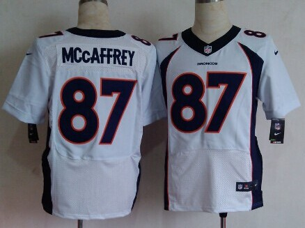 Nike Denver Broncos #87 Ed McCaffrey 2013 White Elite Jersey