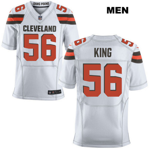 Nike Cleveland Browns #56 Deon King White Stitched Men's NFL Elite Jersey