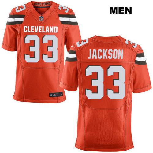 Nike Cleveland Browns #33 Darius Jackson Orange Stitched Men's NFL Elite Jersey